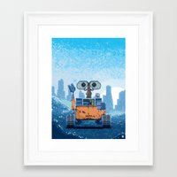wall e Framed Art Prints featuring Wall-e by LAckas