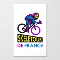 tour de france Canvas Prints featuring Skeletor Tour De France by Tabner's