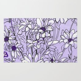 Chrysanthemum, violet version Rug