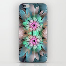 Soft coloured Twin Flowers iPhone Skin