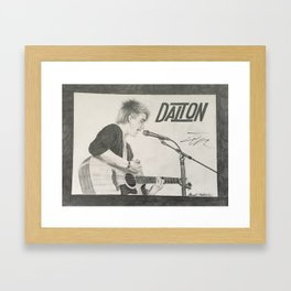 Dalton Rapattoni Autographed Drawing Framed Art Print