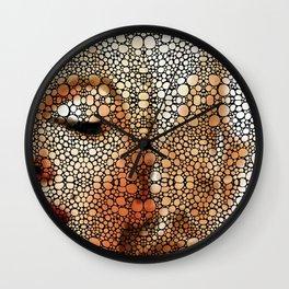 Marilyn Monro - Stone Rock'd Art Painting Wall Clock