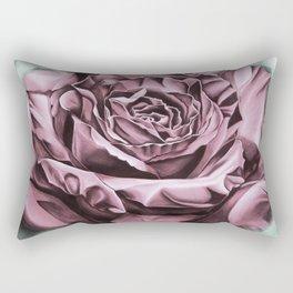 Fifties Rose, pastel drawing Rectangular Pillow