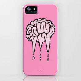 melted brain iPhone Case