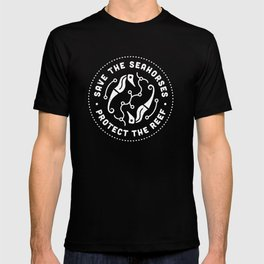 Save the Seahorses, Protect The Reef. T-shirt