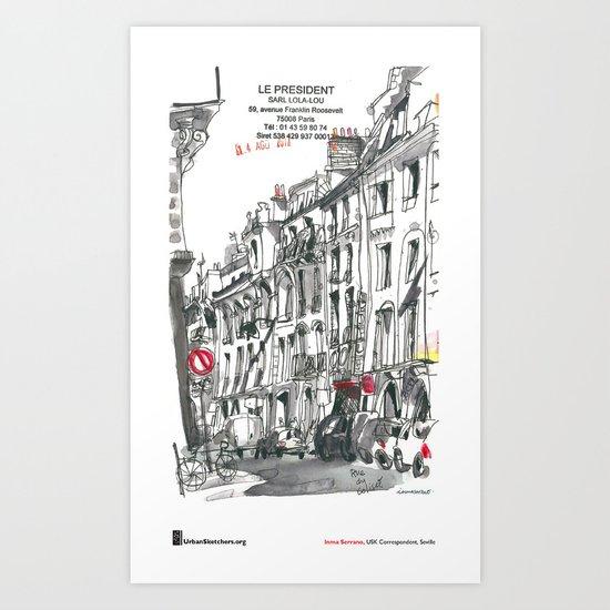 "Inma Serrano, ""Rue du Colisée, Paris"" Art Print"