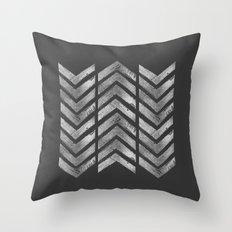 STAMPS SERIES N3 HERRINGBONE BLACK Throw Pillow