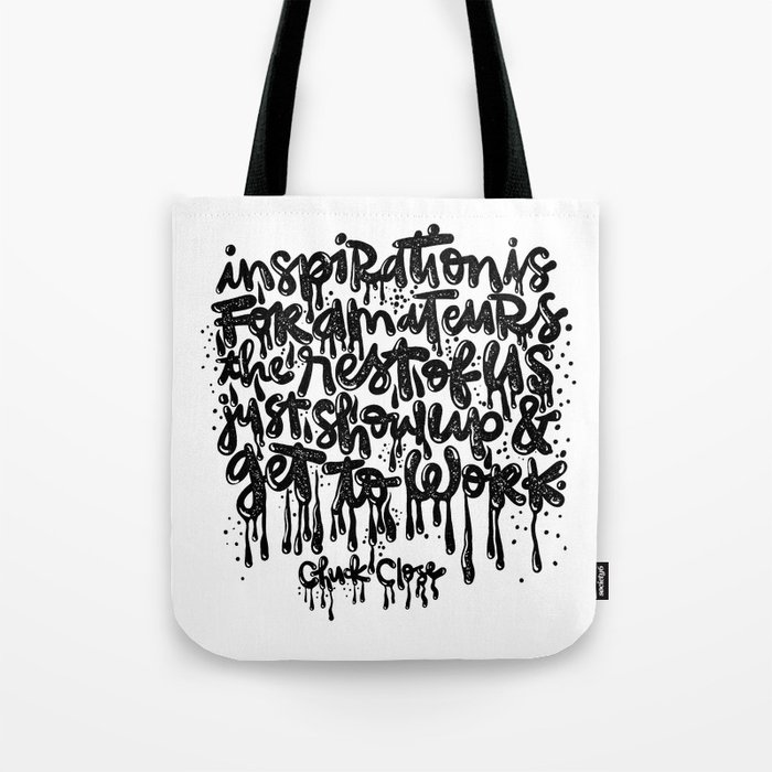 inspiration is for amateurs Tote Bag