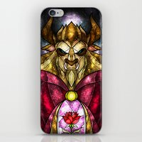 mandie manzano iPhone & iPod Skins featuring The Beast by Mandie Manzano