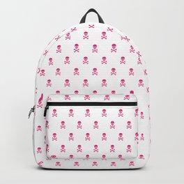HOT PINK SKULLS ALL OVER PRINT Backpack