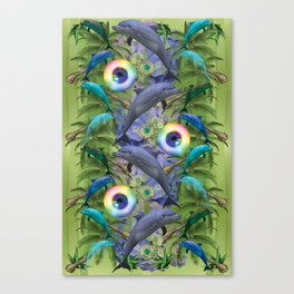 tropical dolphin delight Canvas Print