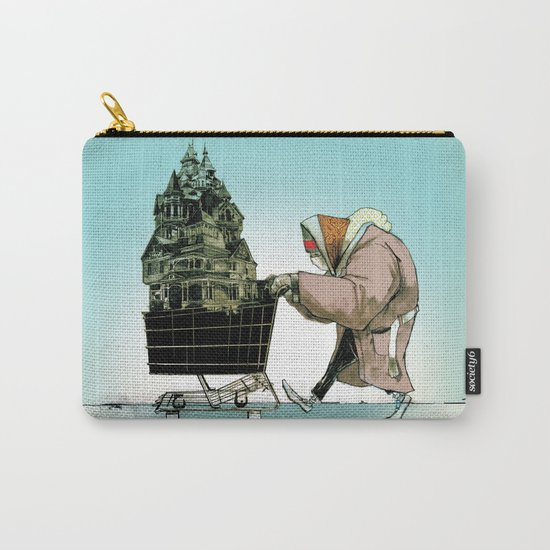 """Glue Network Print Series """"Homelessness"""" Carry-All Pouch"""