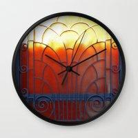 door Wall Clocks featuring Door by aeolia