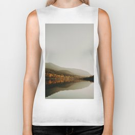 The Faded Forest on a River (Color) Biker Tank