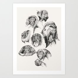 SEVEN MONKEYS Art Print