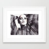 gucci Framed Art Prints featuring Gucci Fever by anna hammer