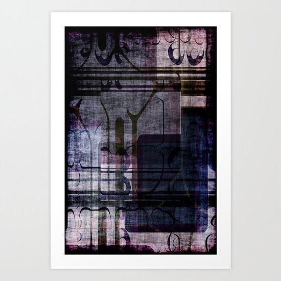 Grunge Pattern Art Print