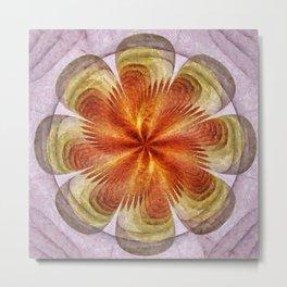 Senores Au Naturel Flower  ID:16165-061704-49220 Metal Print