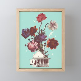 FLOWER HOUSE Framed Mini Art Print