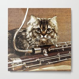 Music was my first love - cat and bassoon Metal Print