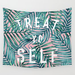 Treat Yo Self (Palm Print) Wall Tapestry