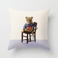 Tiny Tiger Valentine Throw Pillow