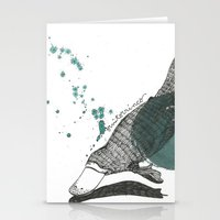platypus Stationery Cards featuring platypus by Willy Ollero
