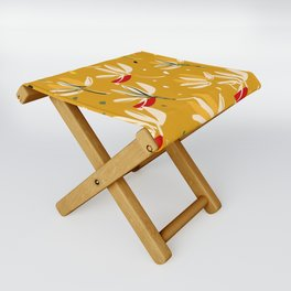 Vanilla flowers on a peanut background Folding Stool