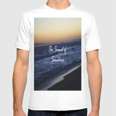 The Sound of Sunshine MEDIUM Mens Fitted Tee White