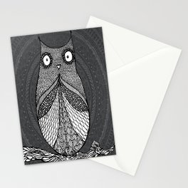 Doodle Owl Stationery Cards