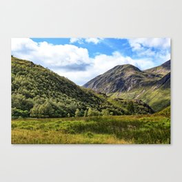 A walk in the Scottish Highlands, Glencoe. Canvas Print