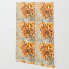 Mason Jar Daisy Bunch Wallpaper