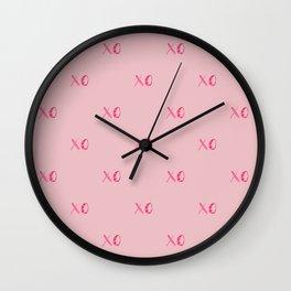 Hugs & Kisses Wall Clock