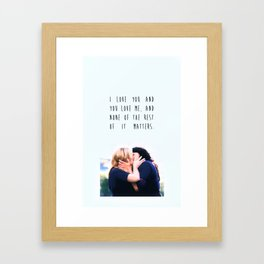 Calzona with Quote Framed Art Print