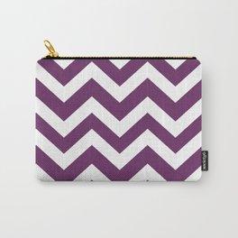 Palatinate purple - violet color - Zigzag Chevron Pattern Carry-All Pouch