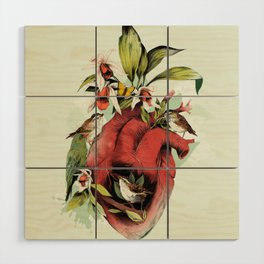 Heart Of Birds Wood Wall Art