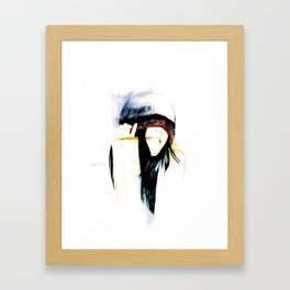 True happiness comes from heart  Framed Art Print