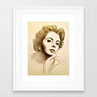 jenny liz rome Framed Art Prints featuring LIZ by F. J. Lara