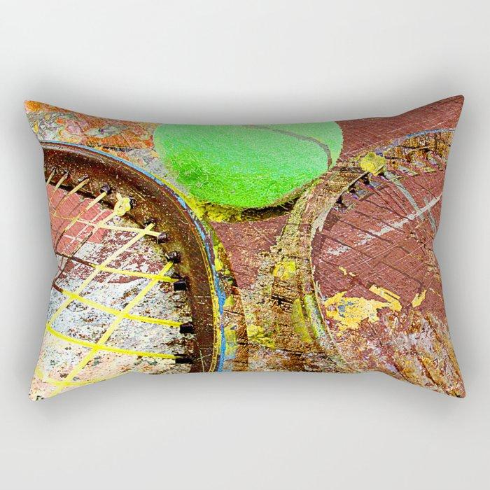 Tennis Art 3 Rectangular Pillow