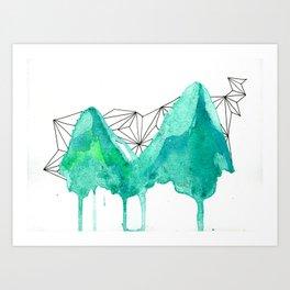 untitled (mountains) Art Print