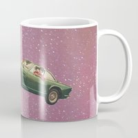 50s Mugs featuring Bon voyage by flirst