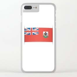 Flag of Bermuda. The slit in the paper with shadows. Clear iPhone Case