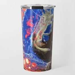 Starry Night, Fluid Art Travel Mug