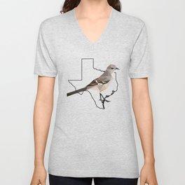 Texas – Northern Mockingbird Unisex V-Neck