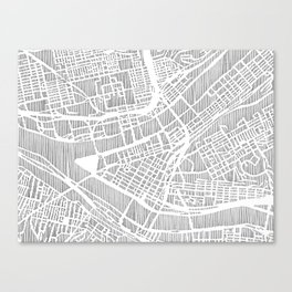 pittsburgh city print Canvas Print