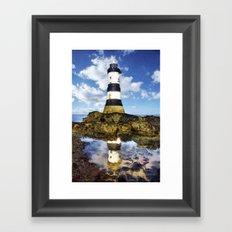 Penmon Lighthouse Painting Framed Art Print