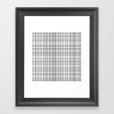 Weave Black and White Framed Art Print