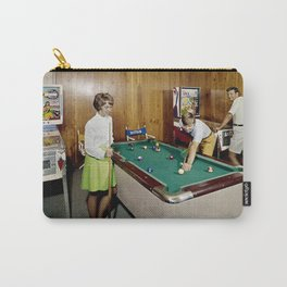 1960's Game Room, Pool Table in the Admiral Motel, Wildwood, NJ Carry-All Pouch