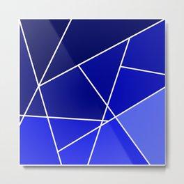 Blue Line Pattern Metal Print