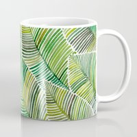 tropical Mugs featuring Tropical Green by Cat Coquillette